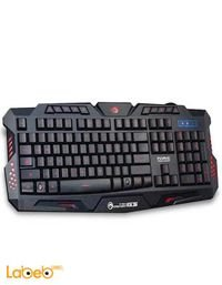 لوحة مفاتيح للألعاب مارفو إضاءة ليد 114 مفتاح أسود K636