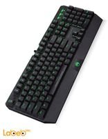Marvo keyboard gaming USB2.0 port Black Green LED KG922