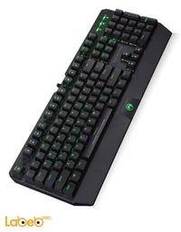 لوحة مفاتيح مارفو منفذ USB 2.0 أسود LED أخضر موديل KG922
