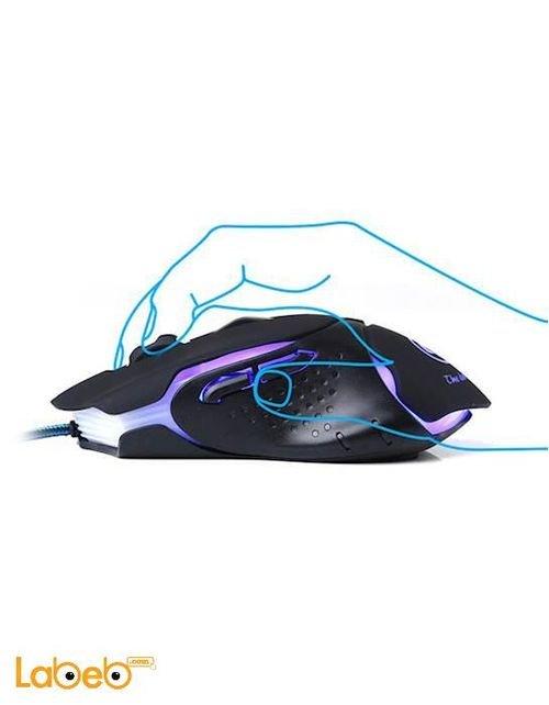 Marvo gaming lighting mouse USB port black M309
