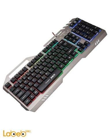لوحة مفاتيح مارفو منفذ USB 2.0 أسود موديل K611
