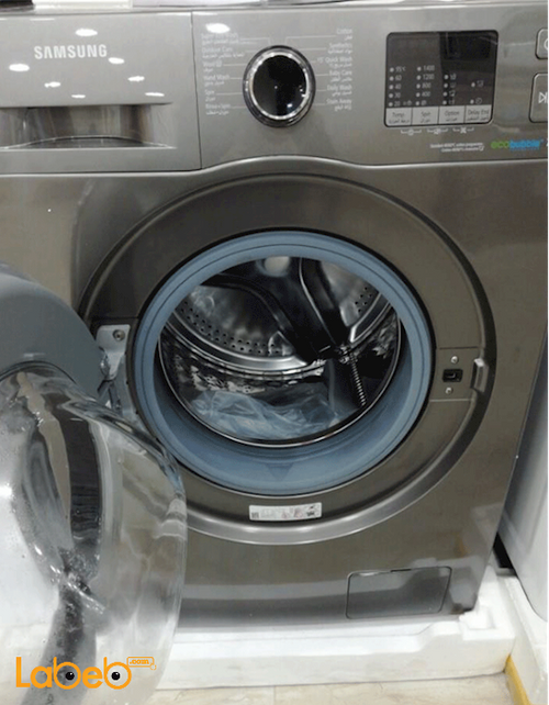 silver Samsung Front Load Washing Machine