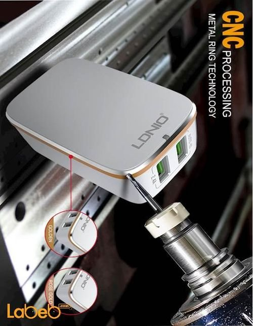شاحن حائط لدنيو موديل A2204 منفذين USB لون أبيض