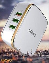 شاحن حائط لدنيو 3 منافذ USB أبيض A6704