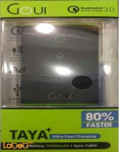 Goui Taya+ 2USB portable battery - 10200mAh - black - G-EBQ12K01K