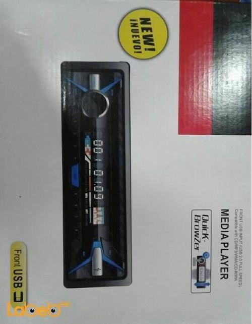 راديو سيارة DVD Media Player منفذ USB منفذ قارئ ذاكرة أسود