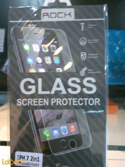 Rock glass screen protector for iPhone 7 anti fingerprint