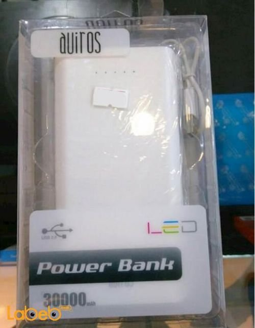 Auiros power bank 30000mAh White color AS-380 model