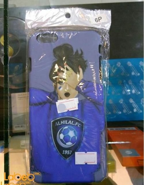 Luxo iPhone 6 plus case Blue with girl image & ALHILAL FC logo