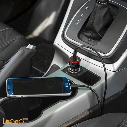 Black Anker PowerDrive+1 Car Charger