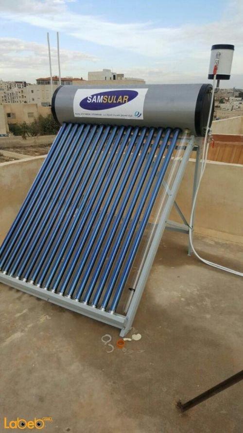 سخان شمسي SAMSULAR سعة 200 لتر 18 أنبوب 2 مم ستانلس