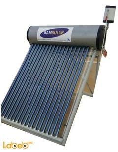 سخان شمسي SAMSULAR - سعة 200 لتر - 18 أنبوب - 2 ملم ستانلس