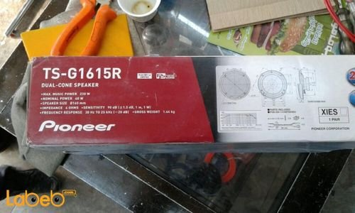 specifications pioneer Dual-Cone Speaker TS-G1615R