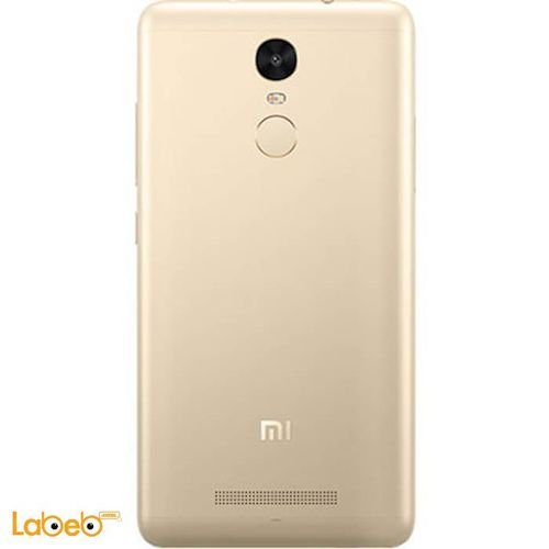 back Mi smartphone gold color Redmi note 3