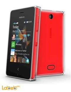Nokia Asha 500 mobile - Dual SIM - 3.2inch - 5MP - Red - RM-934