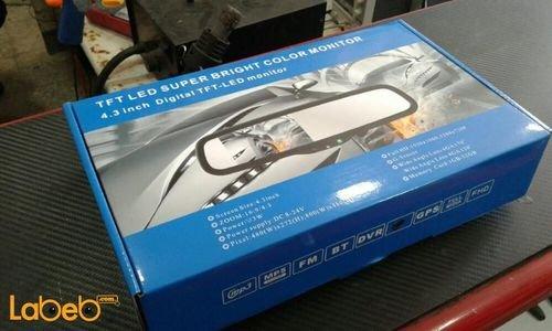 شاشة LED رؤية خلفية TFT حجم 4.3 انش فل اتش دي لون أسود