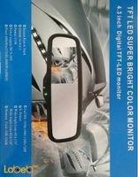 شاشة LED رؤية خلفية TFT حجم 4.3 انش فل HD أسود