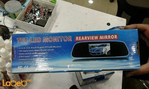 شاشة LED المرآة الخلفية TFT حجم 4.3 انش 2 امبير لون أسود