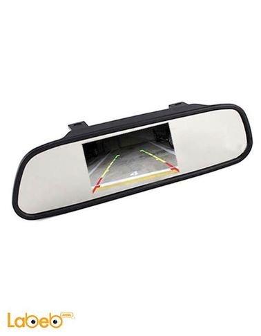 شاشة LED المرآة الخلفية TFT - حجم 4.3 انش - 2 امبير - لون أسود