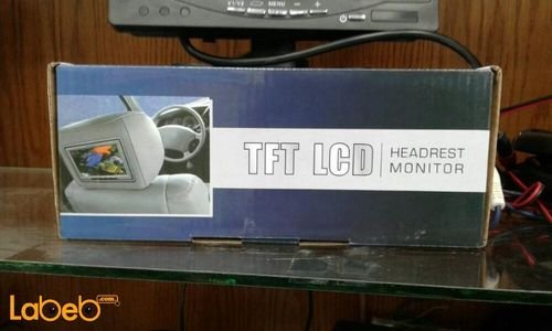 TFT LCD Headrest Monitor 7 inch black color