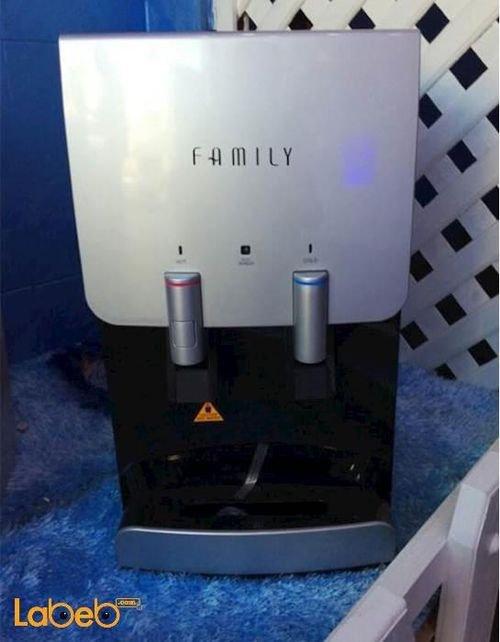 كولر ماء فاميلي حنفيتين سعة 3 لتر تبريد أسود WFD-1050s
