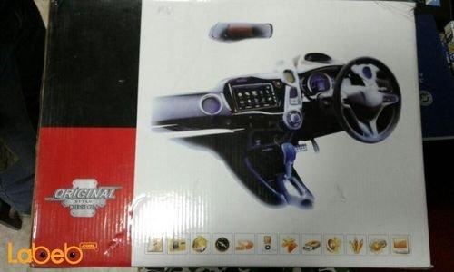 شاشة LED DVD للسيارة عالي الوضوح منفذ USB أسود
