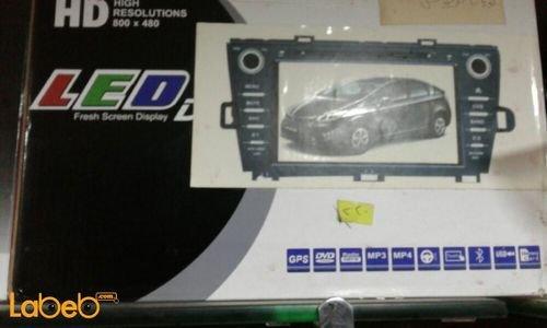 مواصفات شاشة LED DVD للسيارة عالي الوضوح منفذ USB لون أسود