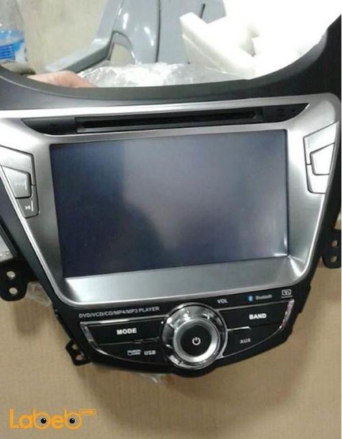 شاشة LED DVD للسيارة عالي الوضوح منفذ USB لون أسود