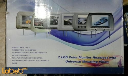 LCD monitor headrest 7 inch 2 video inputs