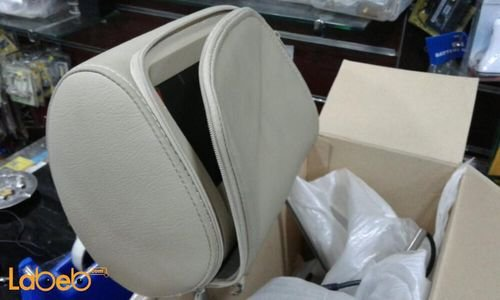 شاشة LCD سيارة للمقاعد الخلفية 7 انش منفذين فيديو وجهاز تحكم