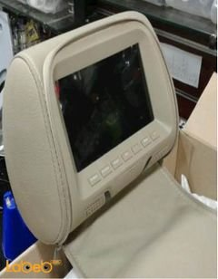 LCD monitor headrest - 7 inch - 2 video inputs - remote control