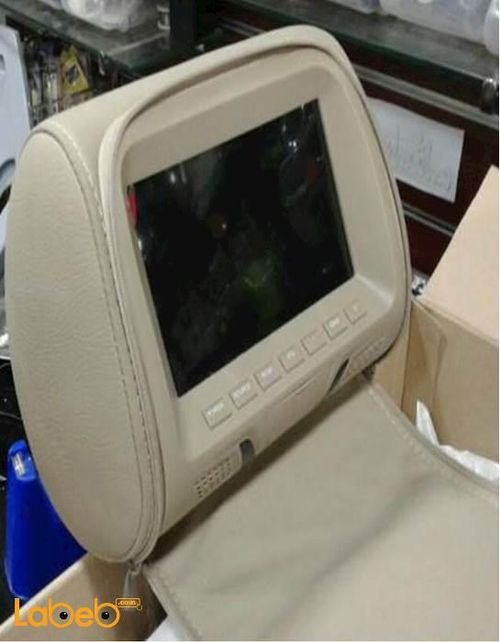 LCD monitor headrest 7 inch 2 video inputs remote control