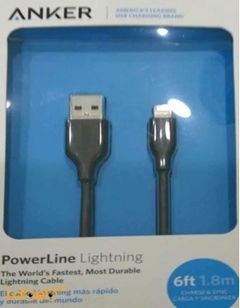 Anker powerline Lighting cable - 1.8m - Black - A8112H11