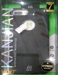 غطاء خلفي kanjian مناسب لموبايل ايفون 7 بلس لون أسود