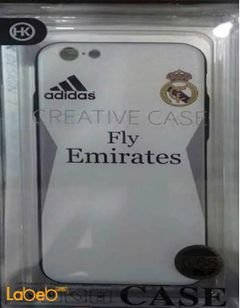 HK mobile back cover - for iphone 6\6S - white with Adidas logo