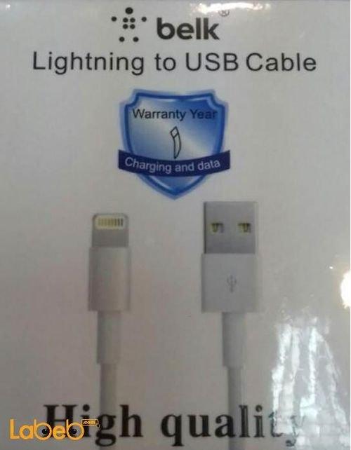 BELK Lightning to USB Cable 1M White color MD818FE model