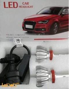 ضوء سيارة LED - قدرة 32 واط - 3200 لومن - يونيفرسال - H11