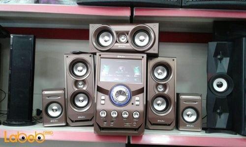 Hoxen 5.1 multimedia speaker 12000 Watt Gold L-719 model