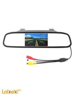شاشة LCD TFT مرآة رؤية خلفية - حجم 4.3 انش - 2 امبير - لون أسود