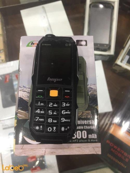 Hope mobile Dual sim 3800 mAh green S19 mini model