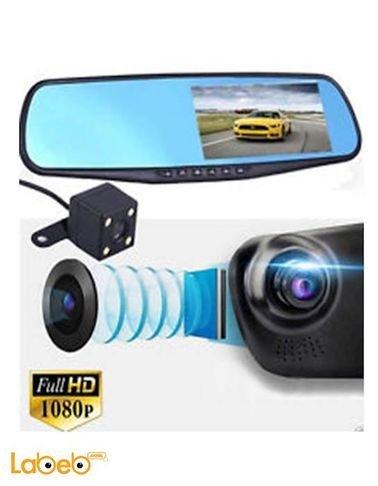 مرآة رؤية خلفية للسيارة - 4.3 انش - فل اتش دي 1080 بكسل - h.264