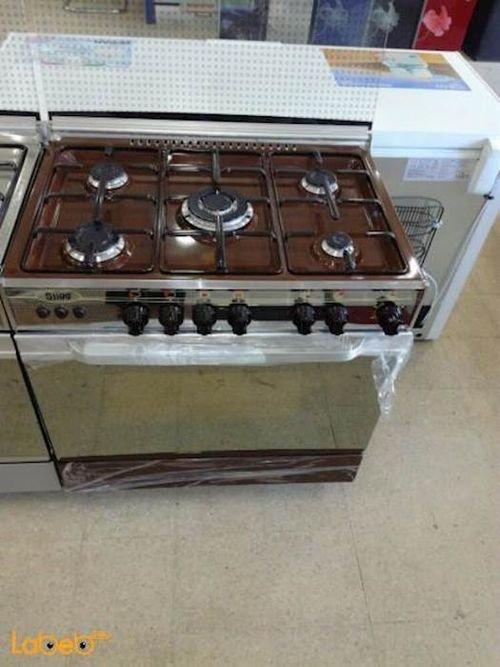 Stigg Oven 5 Burners 60x80 cm Brown color SG855W model