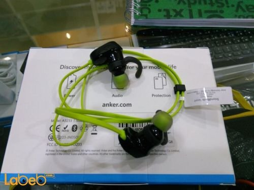 Anker Bluetooth 4.0 SoundBuds Sport Black and Green A32330M1