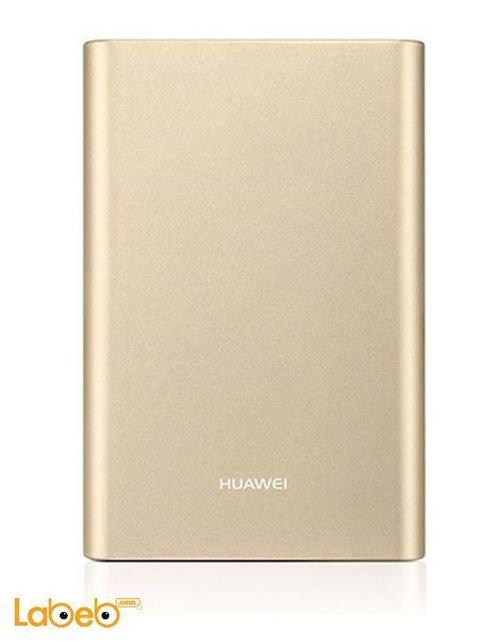 بطارية محمولة هواوي 13000mAh مخرجين USB لون ذهبي AP007