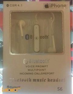 Bluetooth CSR4.1 music headset - unevirsal - White - S6 model