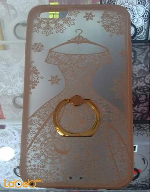 Mobile back cover for iPhone 6 with holder bride dress image