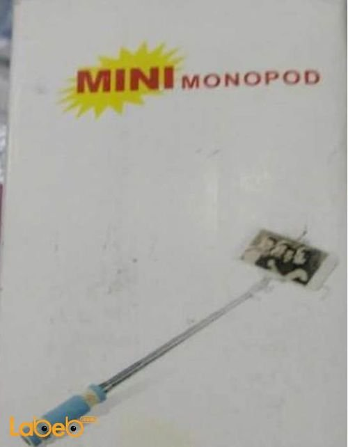 Mini monopod selfie stick 13.8cm close 48 cm open pink