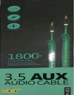 Aux Audio Cable - 3.5mm - 1800mm - green color - LH-303
