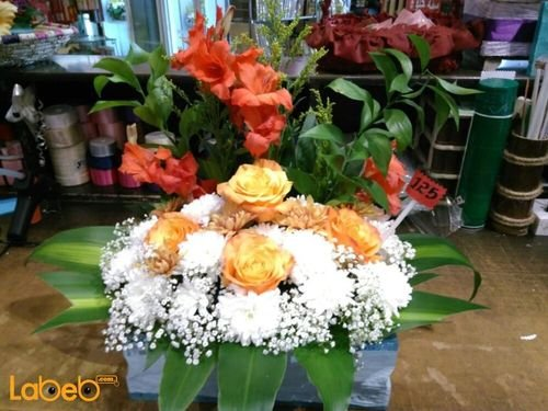 Natural flowers bouquet Orange White Red Special design