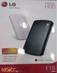 هارد ديسك خارجي LG - حجم 1TB - يو اس بي 3.0 - أسود - HXD71TBB